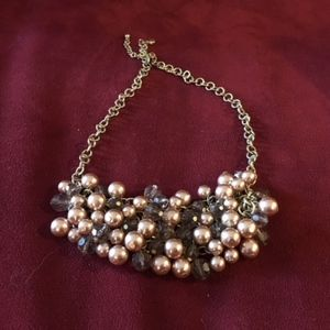 Jewelry - Statement Necklace w blush and light amethyst bead